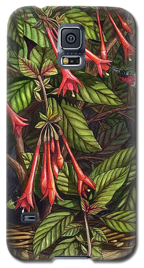 Fuchsia Galaxy S5 Case featuring the painting Lurking by Catherine G McElroy