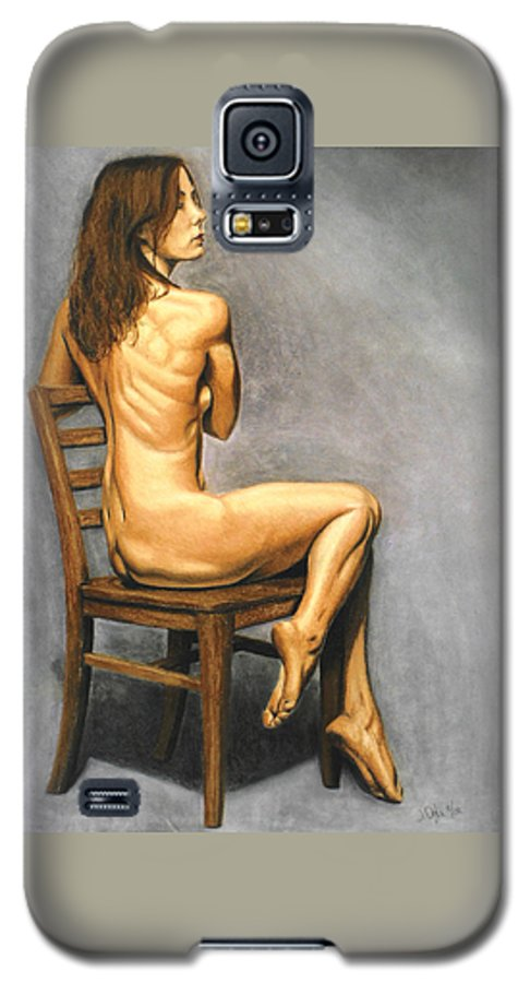 Joe Ogle Galaxy S5 Case featuring the pastel Madame Brooke by Joseph Ogle