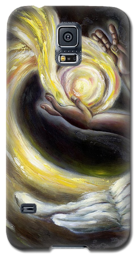 Angel Galaxy S5 Case featuring the painting Magic by Hiroko Sakai
