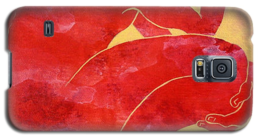 Body Galaxy S5 Case featuring the painting Man 1 From When The Body Talk Collecton by Son Of the Moon