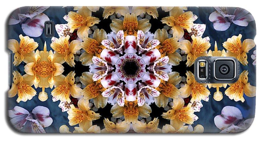 Mandala Galaxy S5 Case featuring the digital art Mandala Alstro by Nancy Griswold