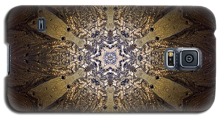 Mandala Galaxy S5 Case featuring the photograph Mandala Sand Dollar At Wells by Nancy Griswold