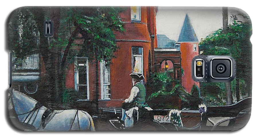 Galaxy S5 Case featuring the painting Mansion On Forsythe Savannah Georgia by Jude Darrien