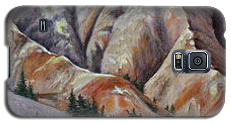 Mountains Galaxy S5 Case featuring the painting Marble Ridge by Elaine Booth-Kallweit