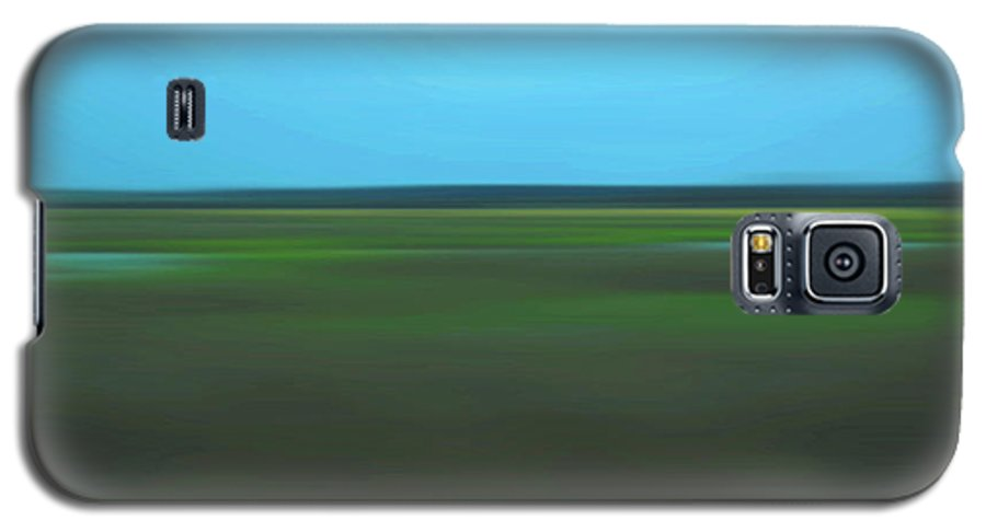 Abstract Galaxy S5 Case featuring the photograph Marsh Blur by Suzanne Gaff