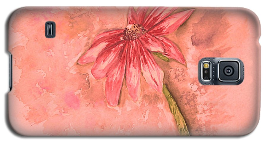 Watercolor Galaxy S5 Case featuring the painting Melancholoy by Crystal Hubbard