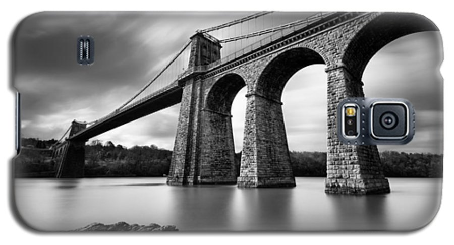 Menai Suspension Bridge Galaxy S5 Case featuring the photograph Menai Suspension Bridge by Dave Bowman
