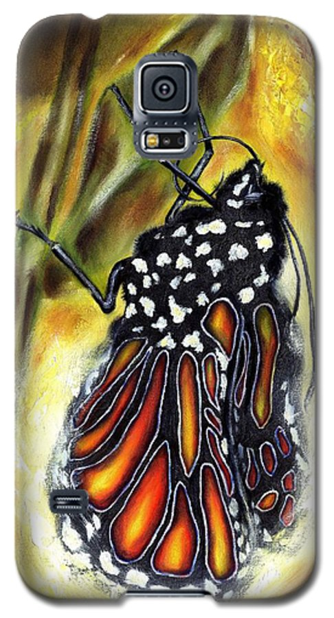 Butterfly Galaxy S5 Case featuring the painting Metamorphosis by Hiroko Sakai