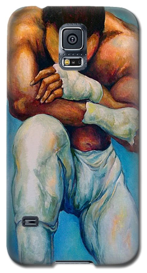 Michael Galaxy S5 Case featuring the painting Michael The Print by Lloyd DeBerry