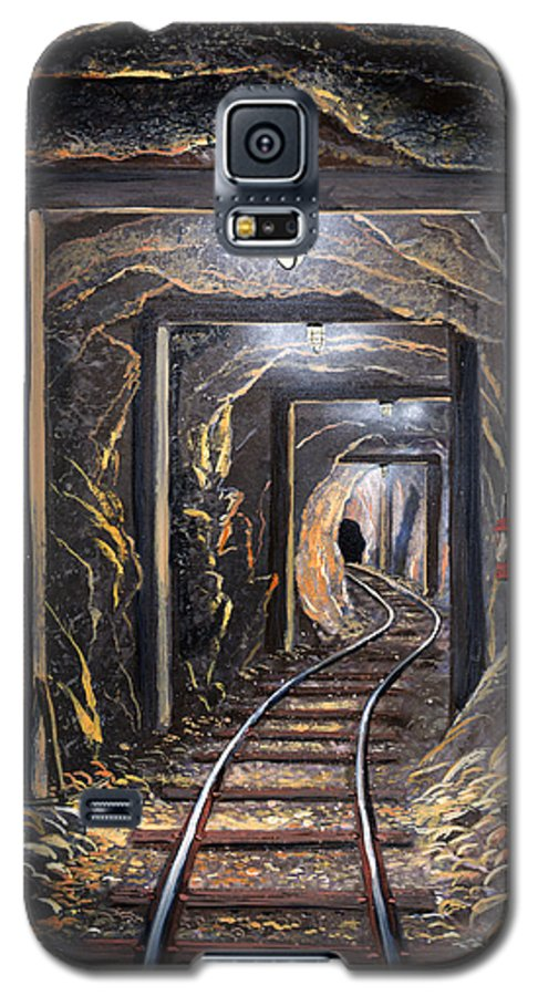 Mural Galaxy S5 Case featuring the painting Mine Shaft Mural by Frank Wilson