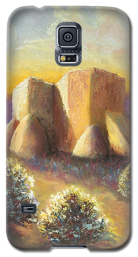 Landscape Galaxy S5 Case featuring the painting Mission Imagined by Jerry McElroy