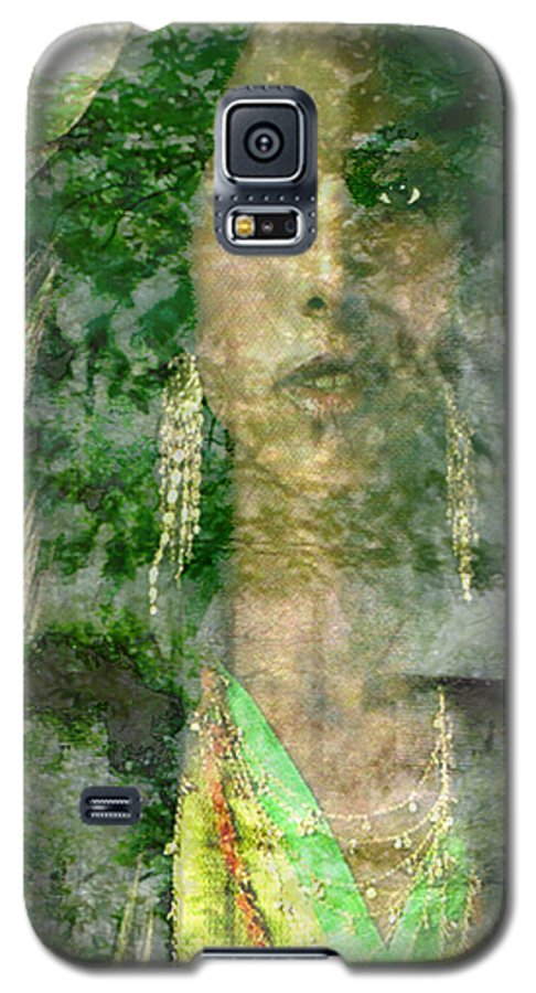American Indian Galaxy S5 Case featuring the digital art Mistress Of The Wind by Seth Weaver
