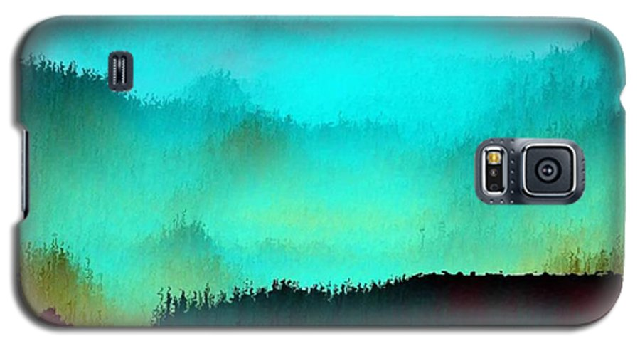 Morning Fog Silhouette The Layers Of The Fog Colors Pale Blue Rose Black Galaxy S5 Case featuring the digital art Morning For You by Dr Loifer Vladimir