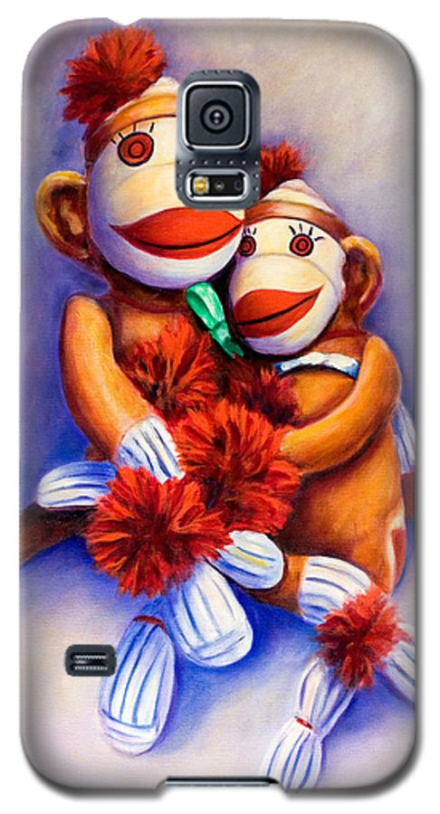 Children Galaxy S5 Case featuring the painting Mother And Child by Shannon Grissom