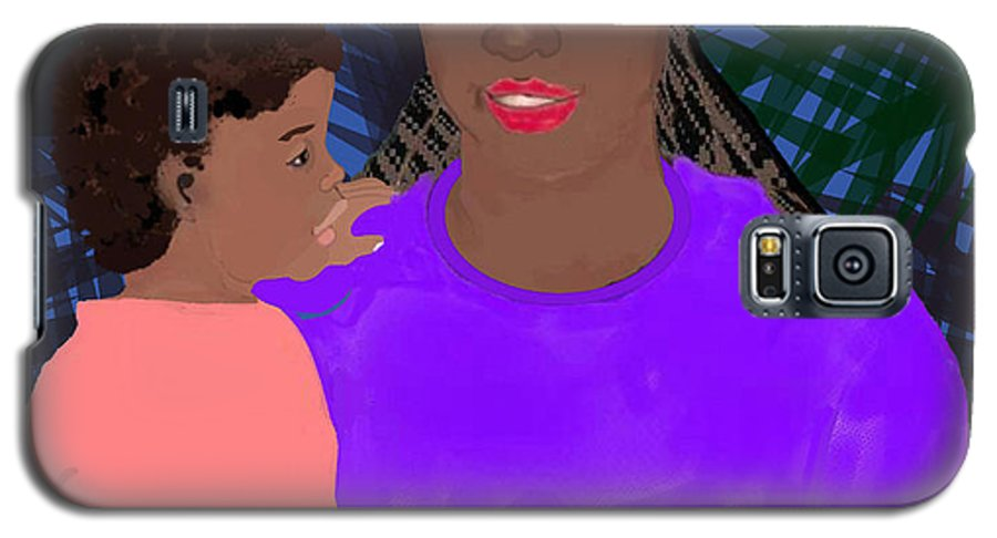 Mother Galaxy S5 Case featuring the painting Mother And Daughter by Pharris Art