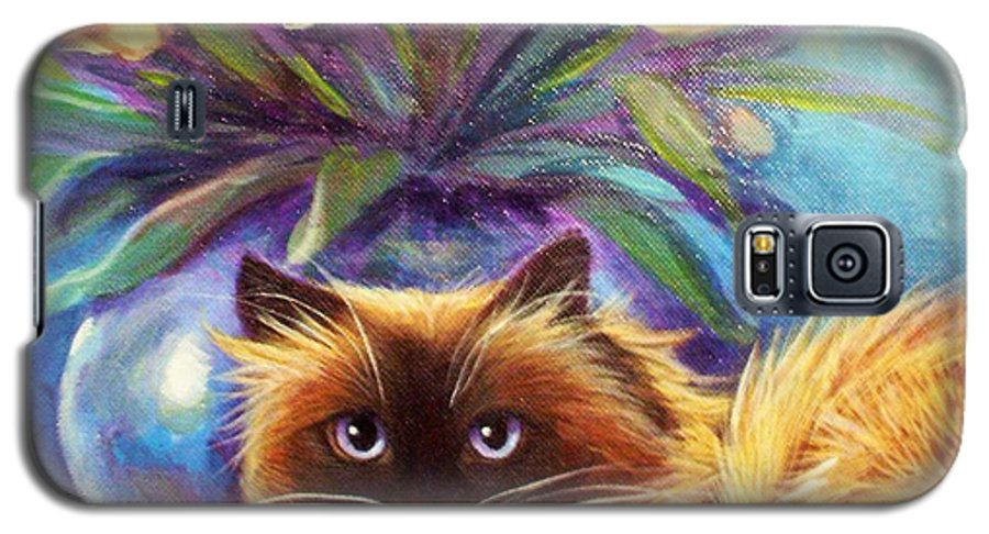 L. Risor Galaxy S5 Case featuring the painting Mr. Wow by L Risor