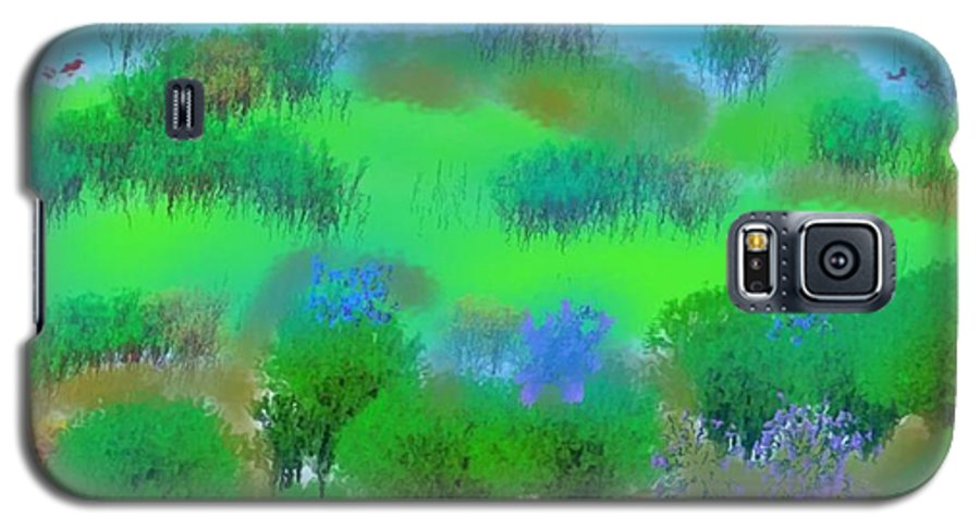 Morning Galaxy S5 Case featuring the digital art My Morning Window View by Dr Loifer Vladimir