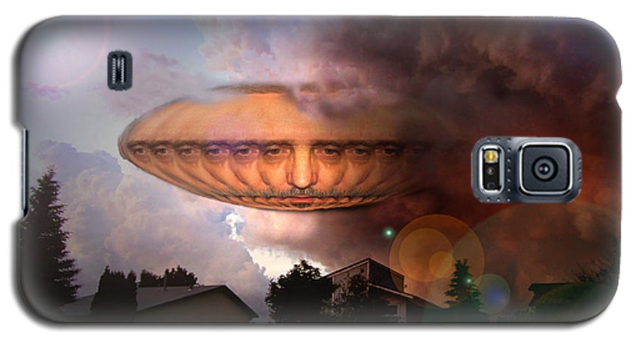 Surrealism Galaxy S5 Case featuring the digital art Mystic Ufo by Otto Rapp