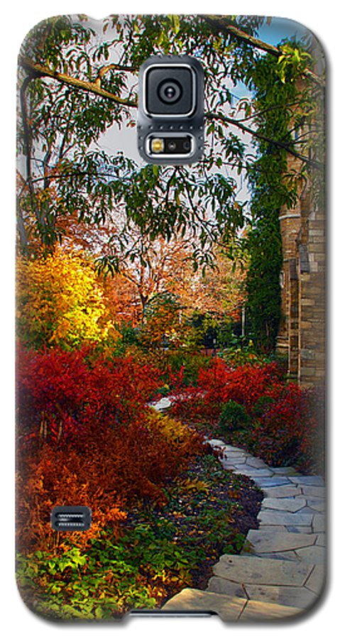 National Cathedral Galaxy S5 Case featuring the photograph National Cathedral Path by Mitch Cat