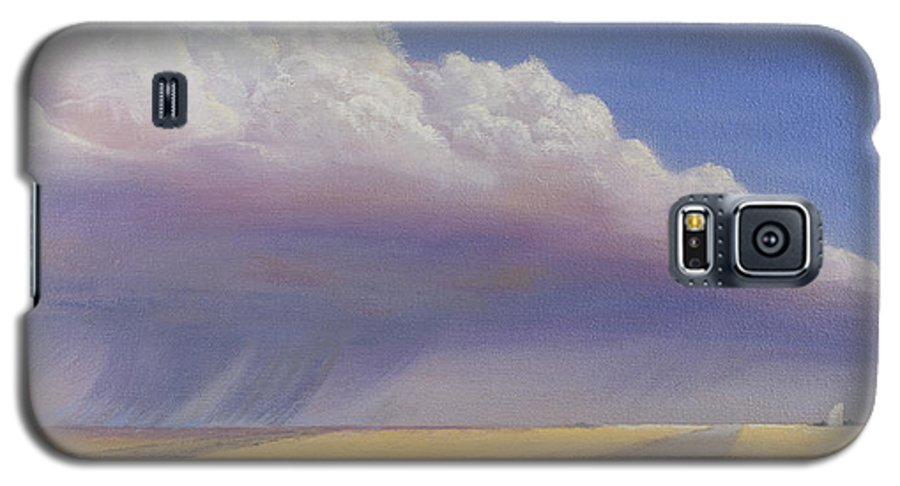Landscape Galaxy S5 Case featuring the painting Nebraska Vista by Jerry McElroy
