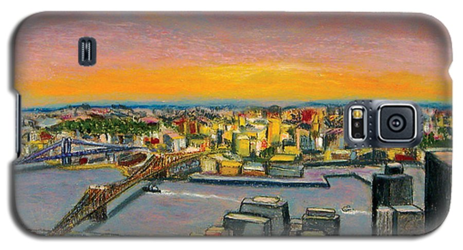 Cityscape Galaxy S5 Case featuring the painting New York 38 by Karin Batten