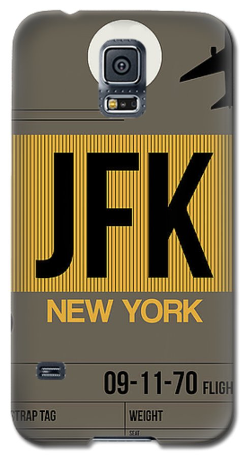 New York Galaxy S5 Case featuring the digital art New York Luggage Tag Poster 3 by Naxart Studio