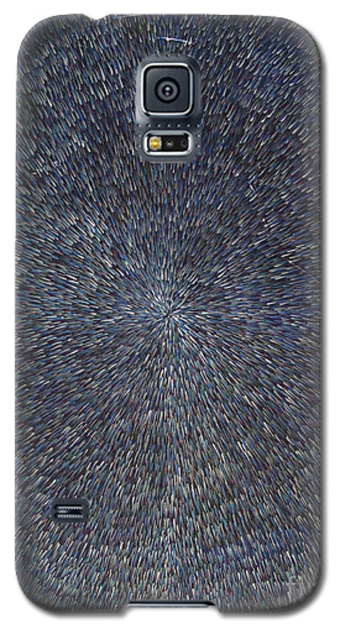 Abstract Galaxy S5 Case featuring the painting Night Radiation by Dean Triolo