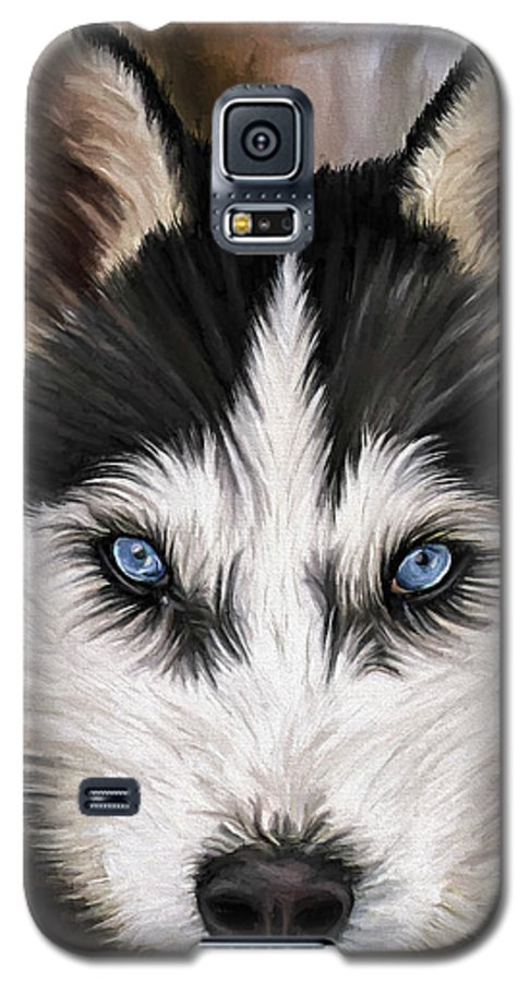 Dog Art Galaxy S5 Case featuring the painting Nikki by David Wagner