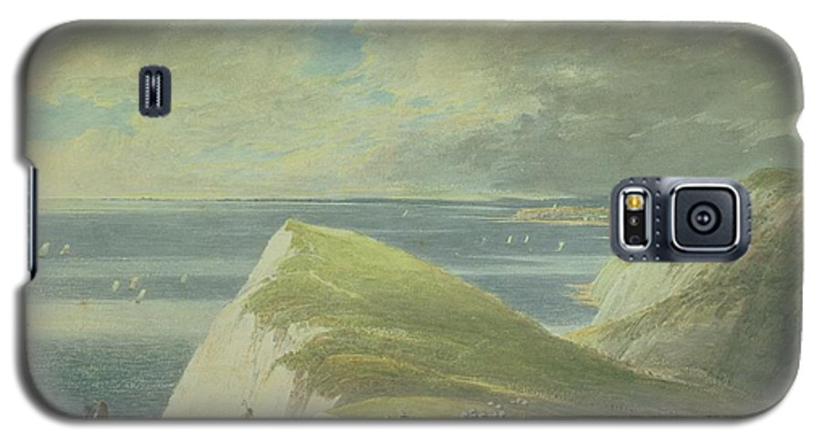Landscape Galaxy S5 Case featuring the drawing No.2372 Shakespeares Cliff, Dover by William Payne