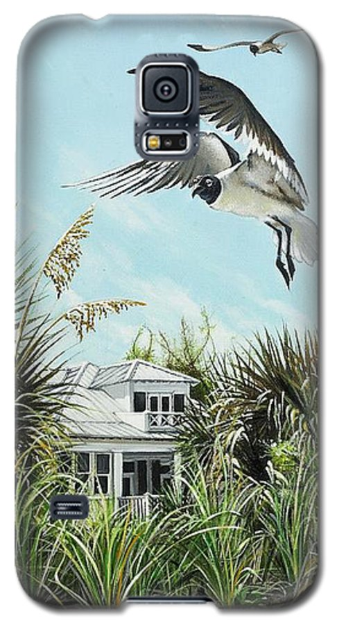 Bird Galaxy S5 Case featuring the painting North Shore Landing by Joan Garcia