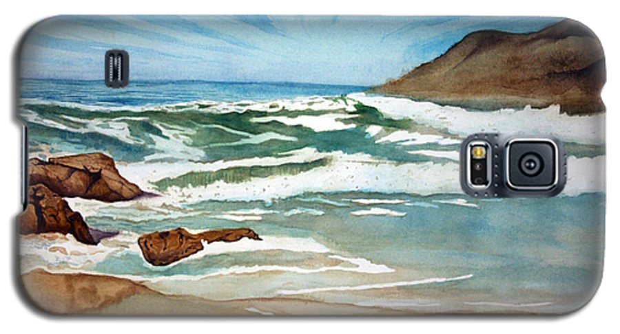 Rick Huotari Galaxy S5 Case featuring the painting Ocean Side by Rick Huotari
