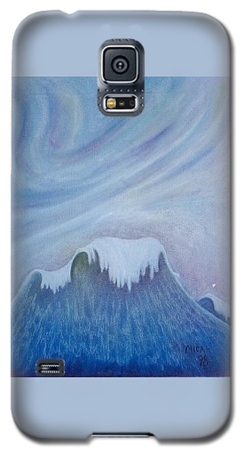 Ocean Galaxy S5 Case featuring the painting Ocean Wave by Micah Guenther