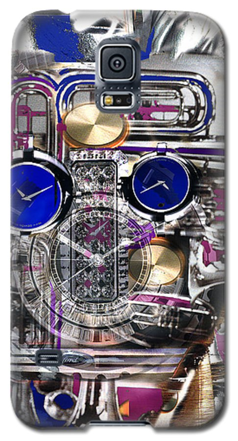 Robotic Time Traveller Galaxy S5 Case featuring the digital art Old Blue Eyes by Seth Weaver