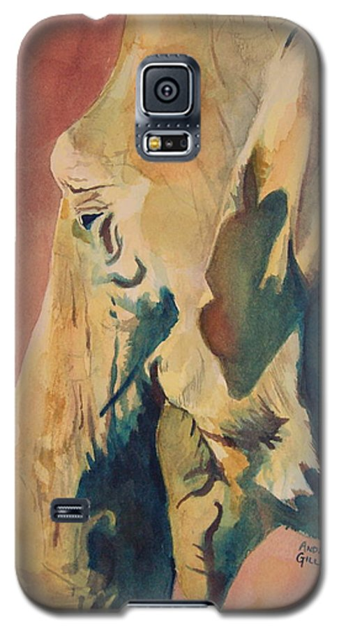 Elephant Galaxy S5 Case featuring the painting Old Elephant by Andrew Gillette