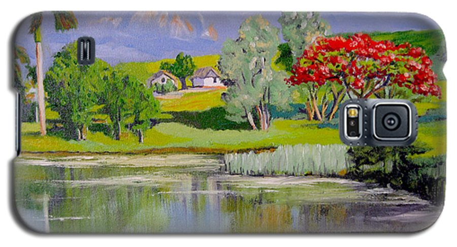 Oil Galaxy S5 Case featuring the painting Old Farm by Jose Manuel Abraham