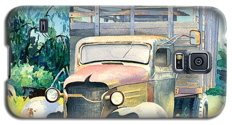 Water Color Galaxy S5 Case featuring the painting Old Kula Truck by Don Jusko