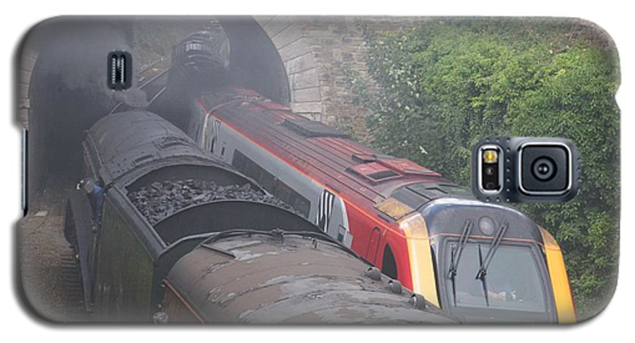 Trains Galaxy S5 Case featuring the photograph Old Meets New. by Christopher Rowlands