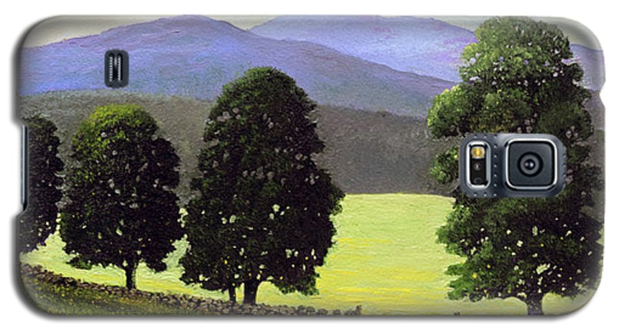 Landscape Galaxy S5 Case featuring the painting Old Wall Old Maples by Frank Wilson