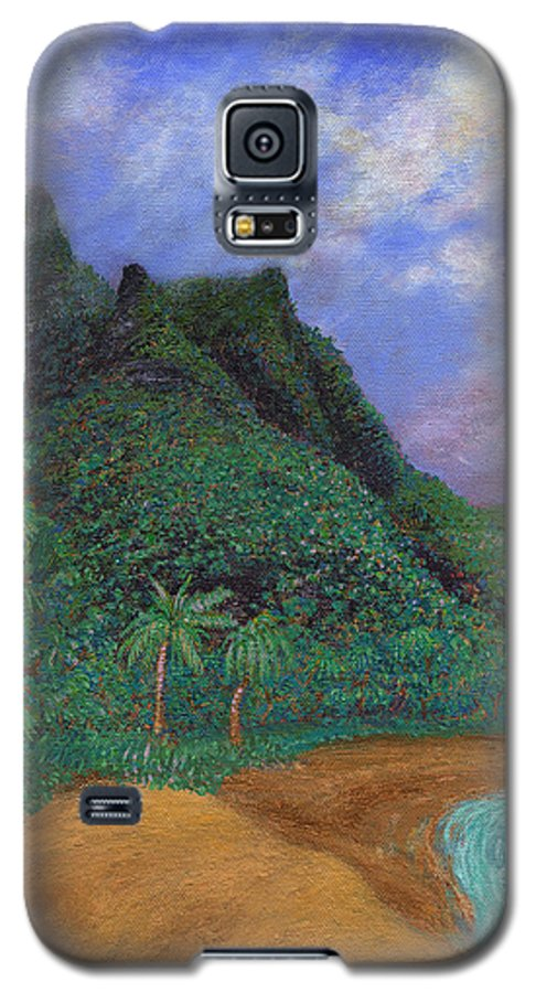 Coastal Decor Galaxy S5 Case featuring the painting On The North Shore by Kenneth Grzesik