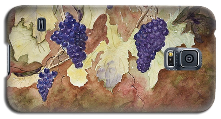 Grapes Galaxy S5 Case featuring the painting On The Vine by Patricia Novack