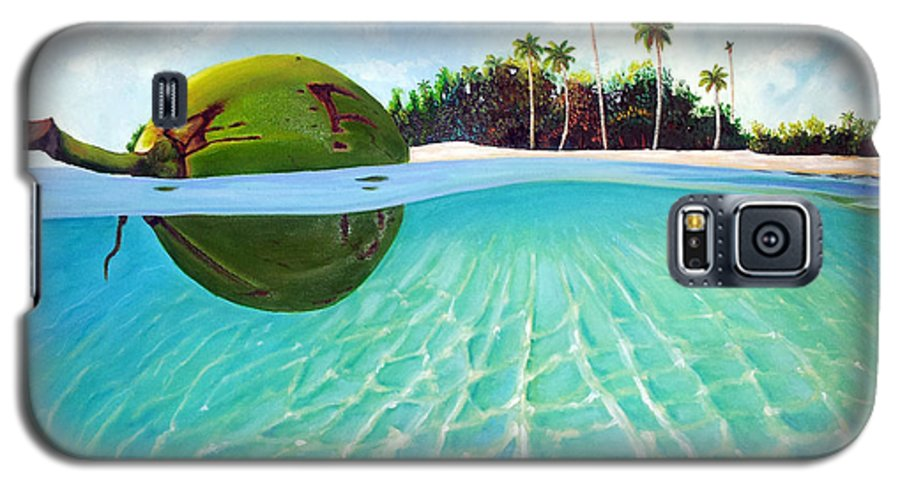 Coconut Galaxy S5 Case featuring the painting On The Way by Jose Manuel Abraham