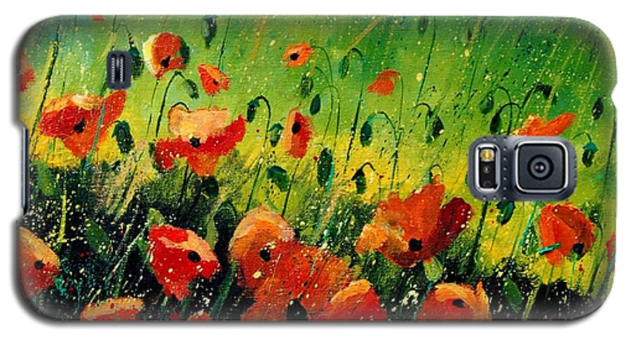 Poppies Galaxy S5 Case featuring the painting Orange Poppies by Pol Ledent