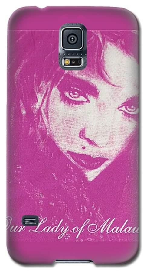Madonna Galaxy S5 Case featuring the drawing Our Lady Of Malawi Madonna by Ayka Yasis