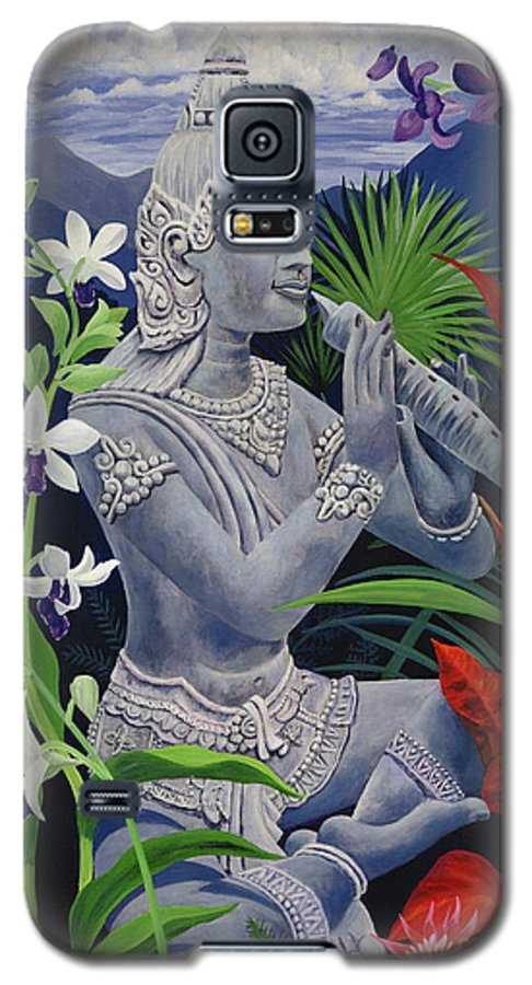 Buddah Galaxy S5 Case featuring the painting Out Of The Blue by Danielle Perry