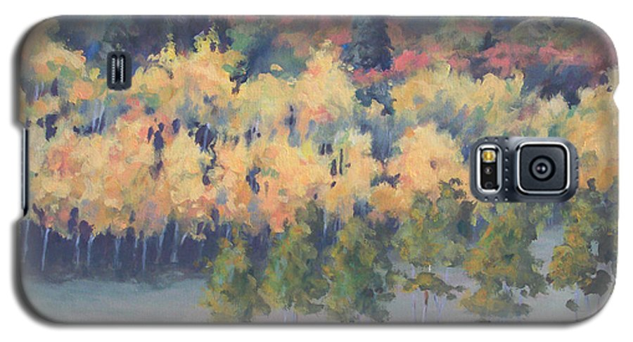 Landscape Galaxy S5 Case featuring the painting Park City Meadow by Philip Fleischer