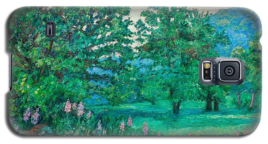 Landscape Galaxy S5 Case featuring the painting Park Road In Radford by Kendall Kessler