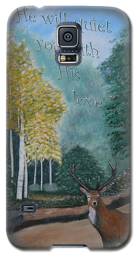 Landscape Galaxy S5 Case featuring the painting Peaceful Walk by Mary Grabill