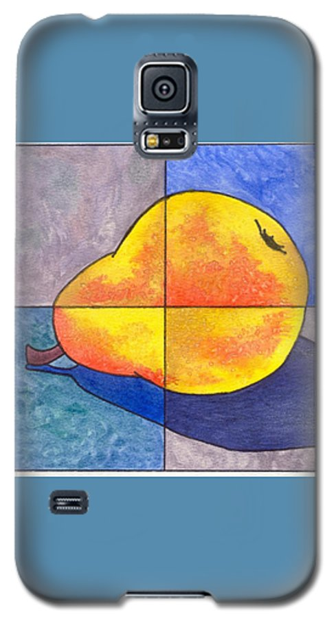 Pear Galaxy S5 Case featuring the painting Pear I by Micah Guenther
