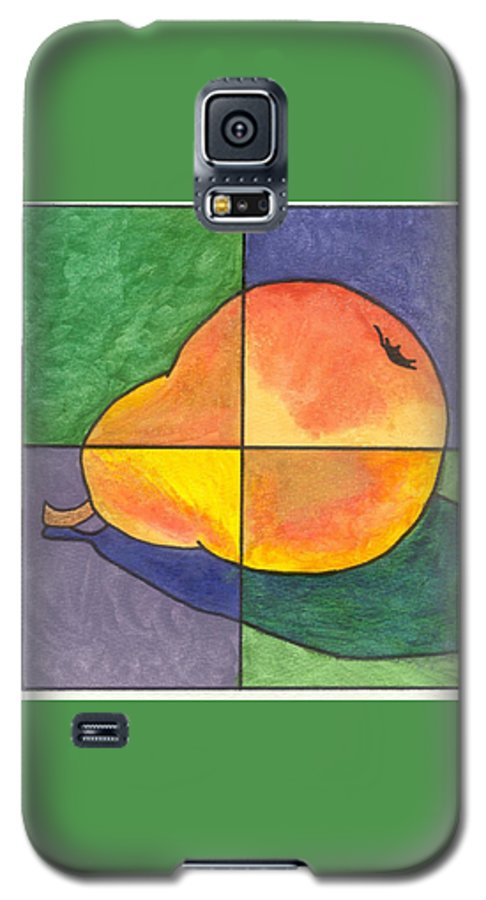 Pear Galaxy S5 Case featuring the painting Pear II by Micah Guenther