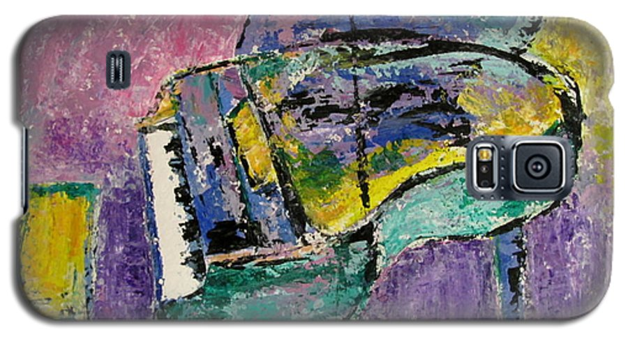 Impressionist Galaxy S5 Case featuring the painting Piano Green by Anita Burgermeister